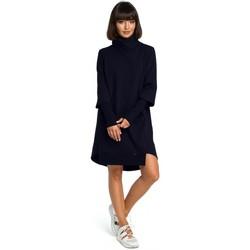 textil Mujer Vestidos Be B089 Vestido asimétrico de cuello redondo - azul marino