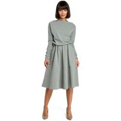 textil Mujer Vestidos Be B087 Vestido ajustado y flare midi - gris