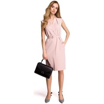 textil Mujer Sudaderas Style S102 Vestido camisero sin mangas - polvo