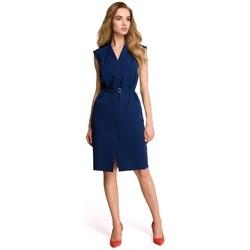 textil Mujer Vestidos Style S102 Vestido camisero sin mangas - azul marino