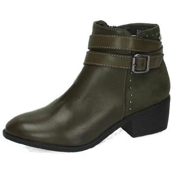 Zapatos Mujer Botas de caña baja Xti Botines kaki Verde