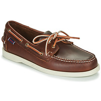 Zapatos Hombre Zapatos náuticos Sebago DOCKSIDES PORTLAND WAXED Marrón