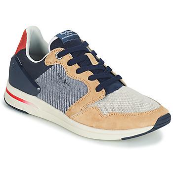 Zapatos Hombre Zapatillas bajas Pepe jeans JAYKER DUAL D LIMIT Azul / Beige