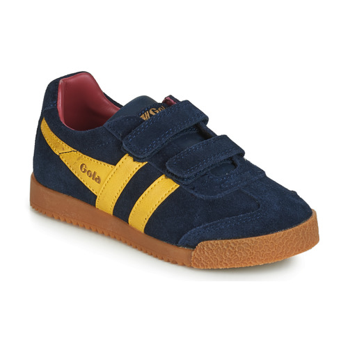 Zapatos Niños Zapatillas bajas Gola HARRIER VELCRO Azul