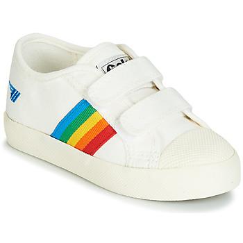 Zapatos Niños Zapatillas bajas Gola COASTER RAINBOW VELCRO Blanco