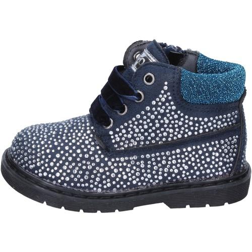 Zapatos Niña Botines Asso botines azul gamuza strass BT297 azul