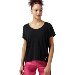 textil Mujer camisetas manga corta Reebok Sport One Series Burnout Negro