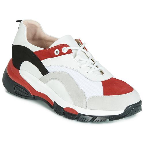 Zapatos Mujer Zapatillas bajas Tosca Blu KELLY Blanco / Rojo