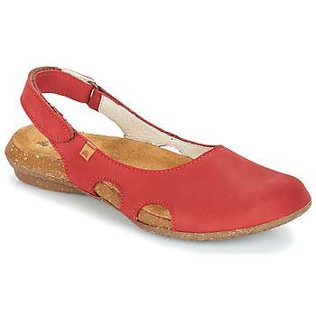 Zapatos Mujer Sandalias El Naturalista WAKATAUA Rojo