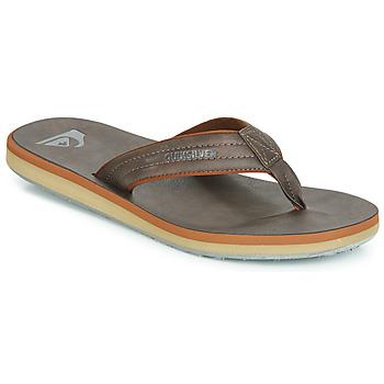 Zapatos Hombre Chanclas Quiksilver CARVER NUBUCK M SNDL CTK1 Marrón
