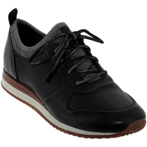 Zapatos Mujer Zapatillas bajas Clarks Hero fuse Cuero negro