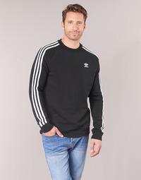 textil Hombre sudaderas adidas Originals 3 STRIPES CREW Negro