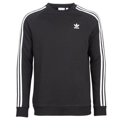 adidas Originals 3 STRIPES CREW Negro - Envío gratis | ! - textil sudaderas Hombre