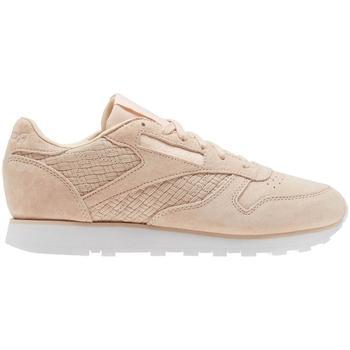 Zapatos Mujer Zapatillas bajas Reebok Sport CL Lthr Woven Emb Beige