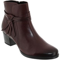 Zapatos Mujer Botines Caprice 25359 Cuero burdeos