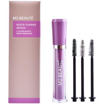 Belleza Mujer Máscaras de pestañas M2 Beauté Quick-change 3 Looks Black Nano Mascara 1 u