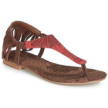 Zapatos Mujer Sandalias Desigual SHOES_LUPITA_LOTTIE Cognac / Rojo