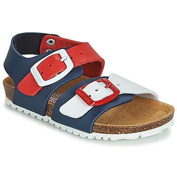 Zapatos Niños Sandalias Garvalin BIO  BOY Marino / Rojo / Blanco