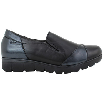 Zapatos Mujer Slip on On Foot - Zapato Confort en negro flexible copete Negro