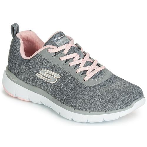 Zapatos Mujer Zapatillas bajas Skechers FLEX APPEAL 3.0 INSIDERS Gris