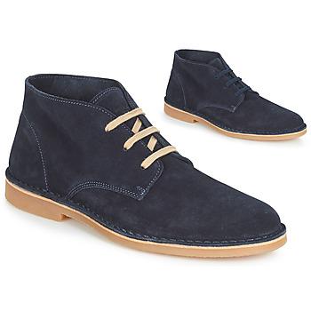Zapatos Hombre Botas de caña baja Selected ROYCE DESERT LIGHT SUEDE Marino