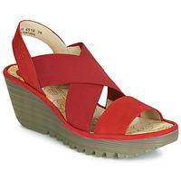 Zapatos Mujer Zapatos de tacón Fly London YAJI Rojo