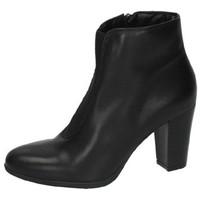 Zapatos Mujer Botas de caña baja Moda Bella BotÍn plano de piel Negro