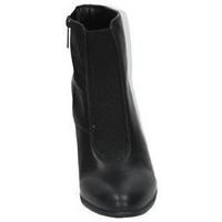 Zapatos Mujer Botas de caña baja Moda Bella BotÍn de tacÓn Negro