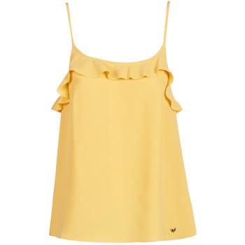textil Mujer camisetas sin mangas Les Petites Bombes AZITAFE Amarillo
