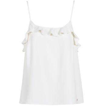 textil Mujer camisetas sin mangas Les Petites Bombes AZITAFE Blanco