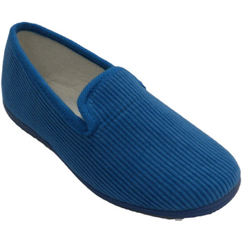 Zapatos Mujer Pantuflas Made In Spain 1940 Zapatilla mujer plana de pana azul