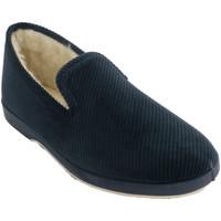 Zapatos Hombre Pantuflas Made In Spain 1940 Zapatilla hombre de pana azul