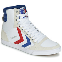 Zapatos Zapatillas altas Hummel TEN STAR HIGH CANVAS Blanco / Azul / Rojo