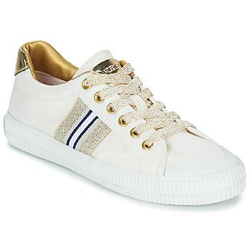 Zapatos Mujer Zapatillas bajas Replay EXTRA Blanco / Oro