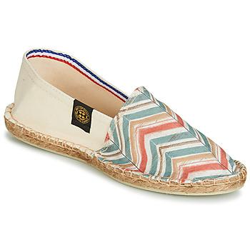 Zapatos Mujer Alpargatas Art of Soule BOHEME BICOLOR Beige / Azul / Coral