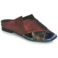 Zapatos Mujer Zuecos (Mules) Papucei KEPLER Negro / Burdeo