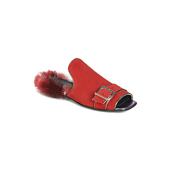 Zapatos Mujer Zuecos (Mules) Papucei OBSENTUM Rojo