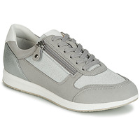 Zapatos Mujer Zapatillas bajas Geox D AVERY Plata / Gris