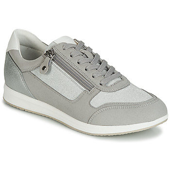 eaa101e2f1d Zapatos Mujer Zapatillas bajas Geox D AVERY Plata   Gris