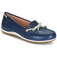 Zapatos Mujer Mocasín Geox D VEGA MOC Azul / Nude