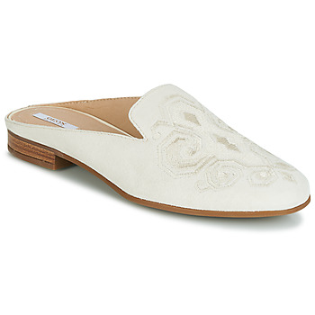 Zapatos Mujer Zuecos (Mules) Geox D MARLYNA Blanco / Brodé
