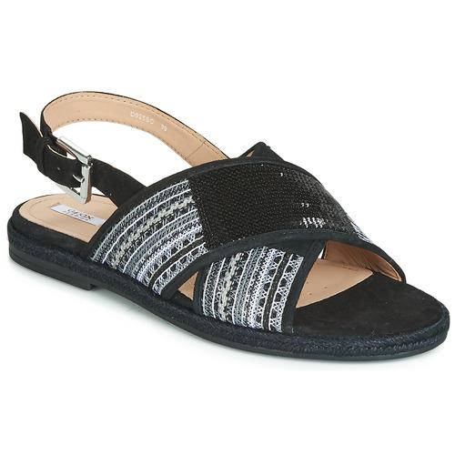 Geox D Negro Mujer Koleen Sandalias Zapatos sQxCtrdohB