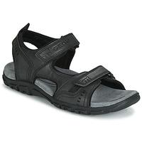 Zapatos Hombre Sandalias de deporte Geox UOMO SANDAL STRADA Negro
