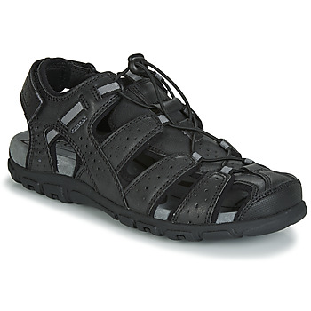 Zapatos Hombre Sandalias Geox UOMO SANDAL STRADA Negro
