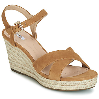 Zapatos Mujer Sandalias Geox D SOLEIL Camel