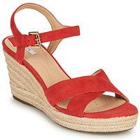 Zapatos Mujer Sandalias Geox D SOLEIL Rojo / Coral