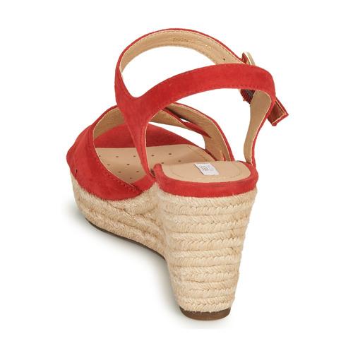 Wyvm08nno Zapatos Sandalias D Rojocoral Soleil Mujer Geox qMVzSUp
