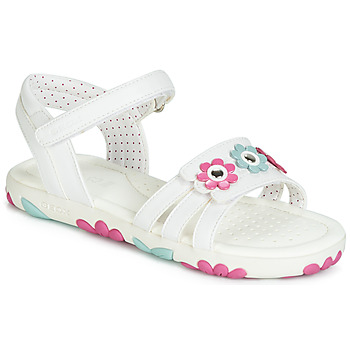 Zapatos Niña Sandalias Geox J SANDAL HAITI GIRL Blanco