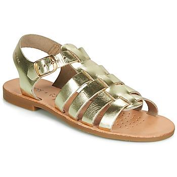 Zapatos Niña Sandalias Geox J SANDAL VIOLETTE GI Oro