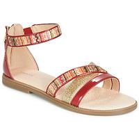Zapatos Niña Sandalias Geox J SANDAL KARLY GIRL Rojo / Dorado